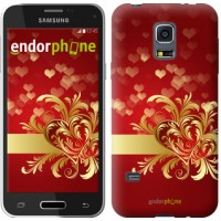 Чехол для Samsung Galaxy S5 mini G800H Ажурные сердца 734m-44