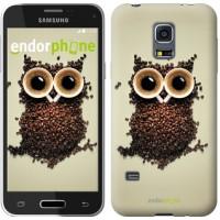 Чехол для Samsung Galaxy S5 mini G800H Сова из кофе 777m-44