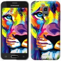 Чехол для Samsung Galaxy S5 mini G800H Разноцветный лев 2713m-44
