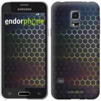 Чехол для Samsung Galaxy S5 mini G800H Переливающиеся соты 498m-44