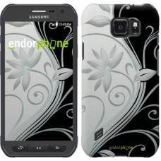 Чехол для Samsung Galaxy S6 active G890 Цветы на чёрно-белом фоне 840u-331