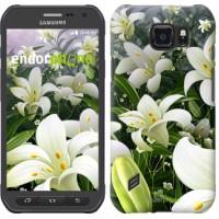 Чехол для Samsung Galaxy S6 active G890 Белые лилии 2686u-331