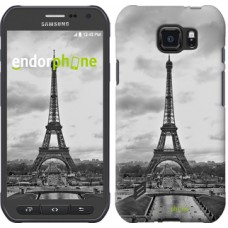 Чехол для Samsung Galaxy S6 active G890 Чёрно-белая Эйфелева башня 842u-331