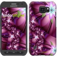 Чехол для Samsung Galaxy S6 active G890 Цветочная мозаика 1961u-331