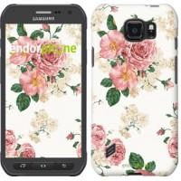 Чехол для Samsung Galaxy S6 active G890 цветочные обои v1 2293u-331