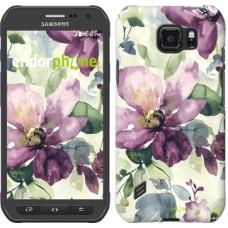 Чехол для Samsung Galaxy S6 active G890 Цветы акварелью 2237u-331