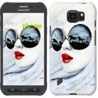 Чехол для Samsung Galaxy S6 active G890 Девушка акварелью 2829u-331
