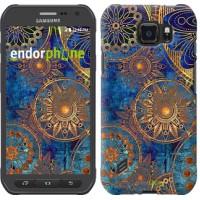 Чехол для Samsung Galaxy S6 active G890 Золотой узор 678u-331