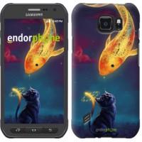 Чехол для Samsung Galaxy S6 active G890 Кошкин сон 3017u-331