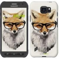 Чехол для Samsung Galaxy S6 active G890 Лис в очках 2707u-331