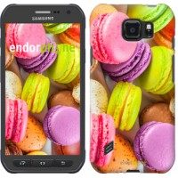 Чехол для Samsung Galaxy S6 active G890 Макаруны 2995u-331