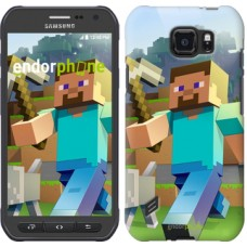 Чехол для Samsung Galaxy S6 active G890 Minecraft 4 2944u-331