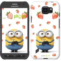 Чехол для Samsung Galaxy S6 active G890 Миньон с клубникой 3369u-331