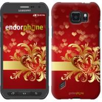 Чехол для Samsung Galaxy S6 active G890 Ажурные сердца 734u-331
