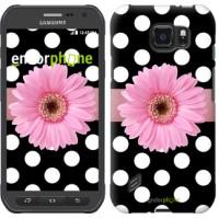 Чехол для Samsung Galaxy S6 active G890 Горошек 2 2147u-331