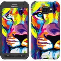 Чехол для Samsung Galaxy S6 active G890 Разноцветный лев 2713u-331