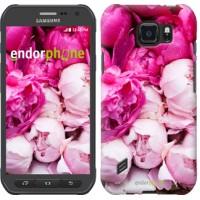 Чехол для Samsung Galaxy S6 active G890 Розовые пионы 2747u-331