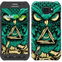 Чехол для Samsung Galaxy S6 active G890 Сова Арт-тату 3971u-331