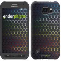 Чехол для Samsung Galaxy S6 active G890 Переливающиеся соты 498u-331