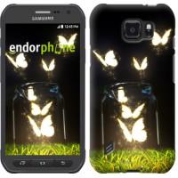 Чехол для Samsung Galaxy S6 active G890 Светящиеся бабочки 2983u-331