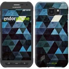 Чехол для Samsung Galaxy S6 active G890 Треугольники 2859u-331