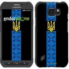 Чехол для Samsung Galaxy S6 active G890 Тризуб в вышиванке 1158u-331