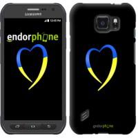 Чехол для Samsung Galaxy S6 active G890 Жёлто-голубое сердце 885u-331