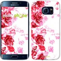 Чехол для Samsung Galaxy S6 Edge G925F Нарисованные розы 724c-83