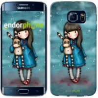 Чехол для Samsung Galaxy S6 Edge G925F Девочка с зайчиком 915c-83