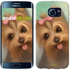 Чехол для Samsung Galaxy S6 Edge G925F Нарисованный йоркширский терьер 928c-83