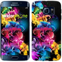 Чехол для Samsung Galaxy S6 Edge G925F Абстрактные цветы 511c-83
