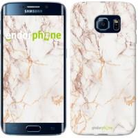 Чехол для Samsung Galaxy S6 Edge G925F Белый мрамор 3847c-83