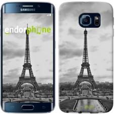 Чехол для Samsung Galaxy S6 Edge G925F Чёрно-белая Эйфелева башня 842c-83