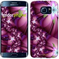 Чехол для Samsung Galaxy S6 Edge G925F Цветочная мозаика 1961c-83