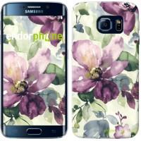 Чехол для Samsung Galaxy S6 Edge G925F Цветы акварелью 2237c-83