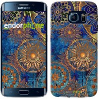 Чехол для Samsung Galaxy S6 Edge G925F Золотой узор 678c-83