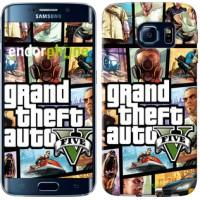 Чехол для Samsung Galaxy S6 Edge G925F GTA 5. Collage 630c-83