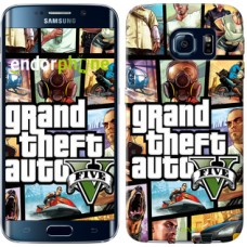 Чехол для Samsung Galaxy S6 Edge G925F GTA 5. Collage 630c-83
