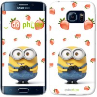 Чехол для Samsung Galaxy S6 Edge G925F Миньон с клубникой 3369c-83