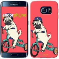 Чехол для Samsung Galaxy S6 Edge G925F Мопс на велосипеде 3072c-83