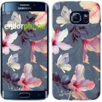 Чехол для Samsung Galaxy S6 Edge G925F Нарисованные цветы 2714c-83