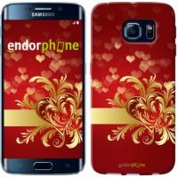 Чехол для Samsung Galaxy S6 Edge G925F Ажурные сердца 734c-83