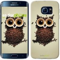 Чехол для Samsung Galaxy S6 Edge G925F Сова из кофе 777c-83