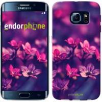 Чехол для Samsung Galaxy S6 Edge G925F Пурпурные цветы 2719c-83