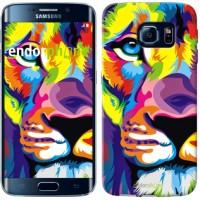 Чехол для Samsung Galaxy S6 Edge G925F Разноцветный лев 2713c-83