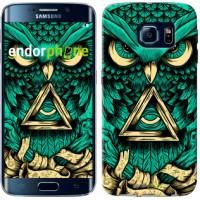 Чехол для Samsung Galaxy S6 Edge G925F Сова Арт-тату 3971c-83