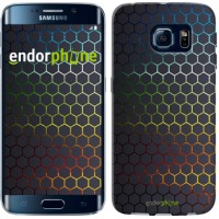 Чехол для Samsung Galaxy S6 Edge G925F Переливающиеся соты 498c-83