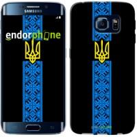 Чехол для Samsung Galaxy S6 Edge G925F Тризуб в вышиванке 1158c-83