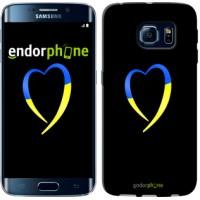 Чехол для Samsung Galaxy S6 Edge G925F Жёлто-голубое сердце 885c-83