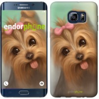 Чехол для Samsung Galaxy S6 Edge Plus G928 Нарисованный йоркширский терьер 928u-189